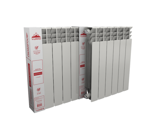 Радиатор алюминиевый НРЗ 500/100 10 секеций (Россия)